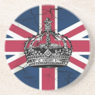 Union Jack Flag Queen of England Diamond Jubilee Sandstone Coaster