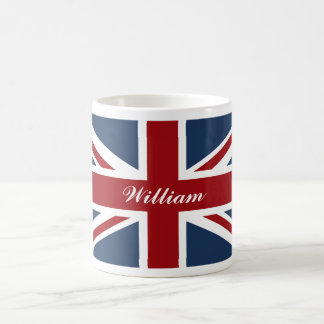 Union Jack Flag Red White and Blue Classic White Coffee Mug