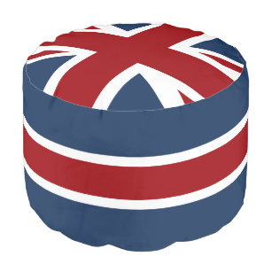 5b2275b24f4 Union Jack Flag Red White and Blue Pouf