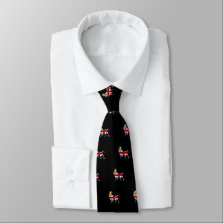 Union Jack Flag Royal Lion and Crown Neck Tie