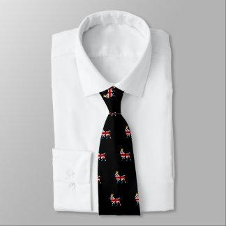 Union Jack Flag Royal Lion and Crown Neck Tie