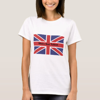 """Union Jack Flag """"She's Got Talent""""Fitted Tee Shirt"""