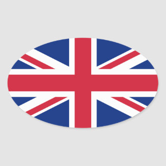 Union Jack Flag Oval Sticker