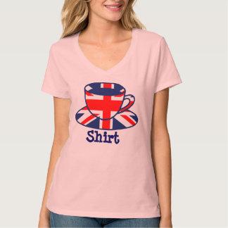 Union Jack Flag Tea Cup T-Shirt