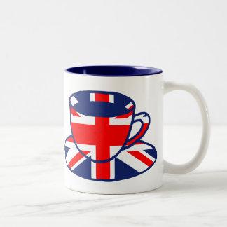 Union Jack flag teacup art Mugs