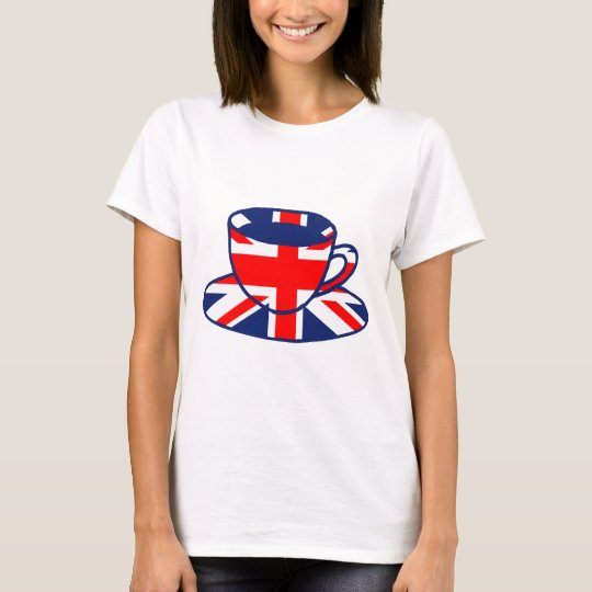 Union Jack flag teacup art T-Shirt