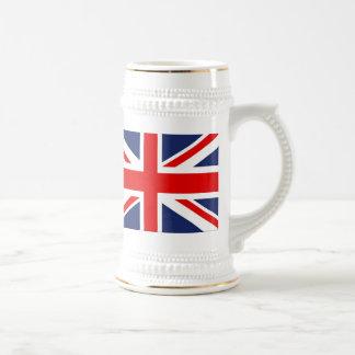 Union Jack Flag-United Kingdom 18 Oz Beer Stein