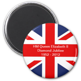 Union Jack Flag-United Kingdom 2 Inch Round Magnet