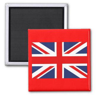 Union Jack Flag-United Kingdom 2 Inch Square Magnet