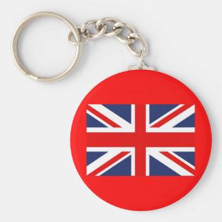 Union Jack Flag-United Kingdom Basic Round Button Keychain