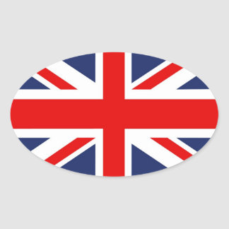 Union Jack Flag-United Kingdom Oval Sticker