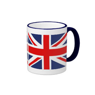 Union Jack Flag-United Kingdom Ringer Coffee Mug