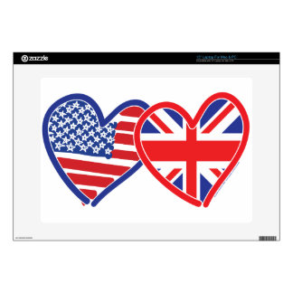 Union Jack Flag USA Decals For Laptops