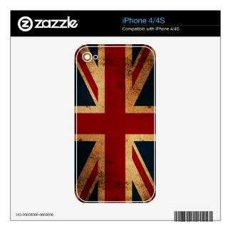 Union Jack Flag (vintage distressed) iPhone Skin