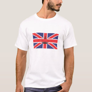 Union Jack Flag with Crown Adult Tee Shirt