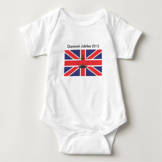 Union Jack Flag with Crown Infant Creeper/Babygro Baby Bodysuit