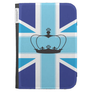 Union Jack Flag with Crown Kindle Case