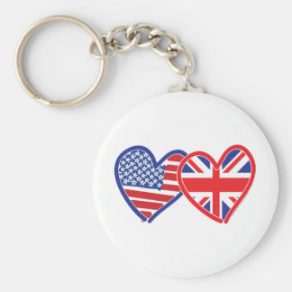 Union Jack Flat USA Flag Keychain