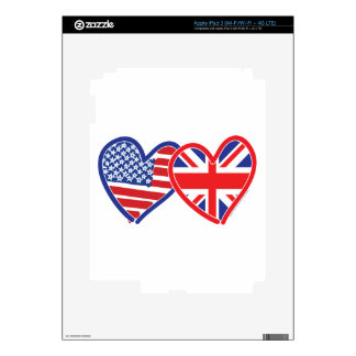 Union Jack Flat USA Flag Skin For iPad 3