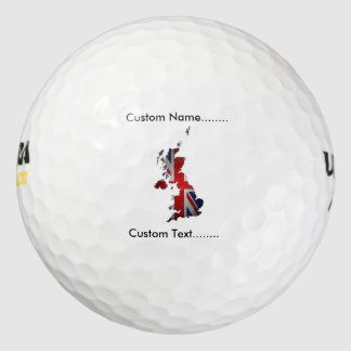 Union Jack Forms UK and Scottish Isles Golf Ball. Pack Of Golf Balls