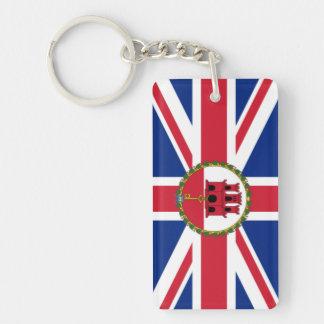 Union Jack & Gibraltar Flag KeyRing
