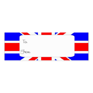 Union Jack gift tag Business Card Template