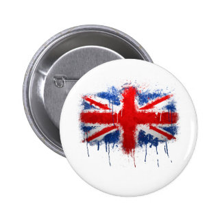 Union Jack Graffiti Pinback Button