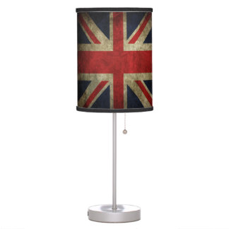 Union Jack Grunge British Flag Love Britain! Desk Lamp