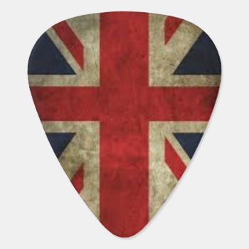 Union Jack Grunge Guitar Pick by DekeyDesigns at Zazzle