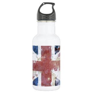 Union Jack Grunge Water Bottle