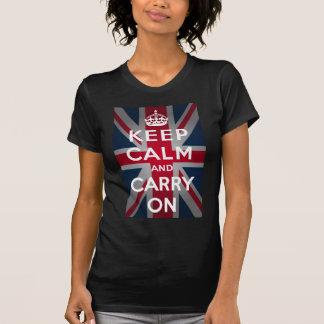 Union Jack guarda calma y continúa Camisetas