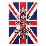 Union Jack guarda calma y continúa iPad Mini Funda
