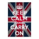 Union Jack guarda calma y continúa Papeleria De Diseño