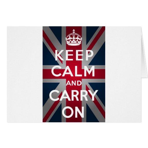 Union Jack guarda calma y continúa Tarjeton