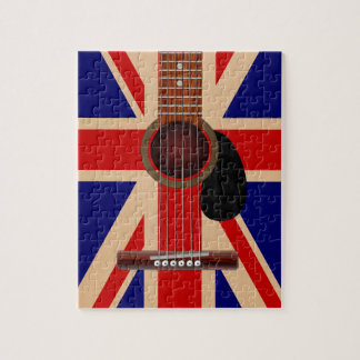 Union Jack Guitar Jigsaw Puzzle