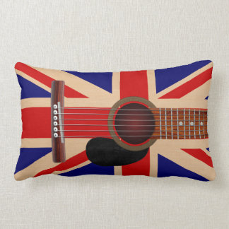 Union Jack Guitar Lumbar Pillow