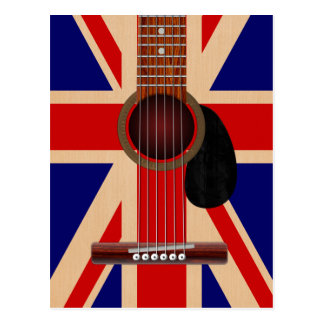 Union Jack Guitar Postcard