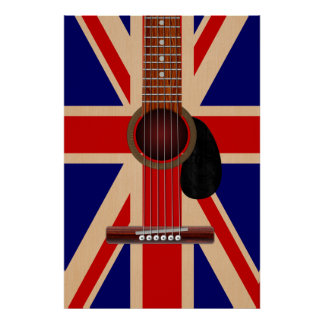 Union Jack Guitar Posters