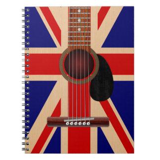 Union Jack Guitar Spiral Notebook