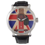 Union Jack Guitar Wrist Watch