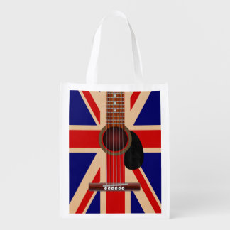 Union Jack Guitar Grocery Bag