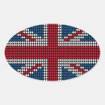 Union Jack Heart 卵形シールステッカー