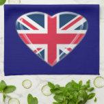 Union Jack Heart American MoJo Kitchen Towel