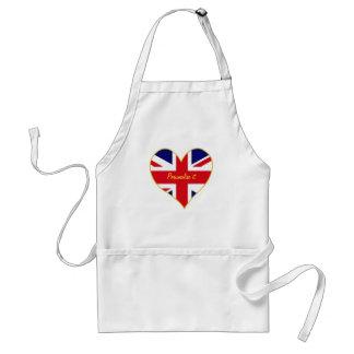 Union Jack heart chef Aprons