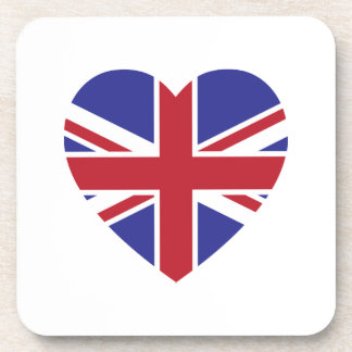 Union Jack Heart Coaster Set