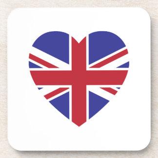 Union Jack Heart Coaster Set