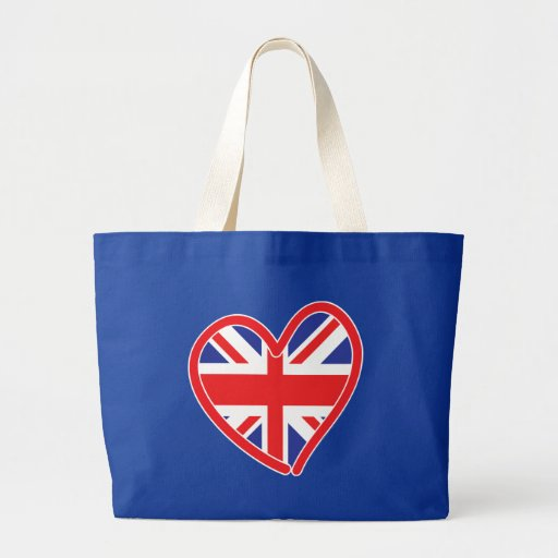 Union Jack Heart Flag Bags