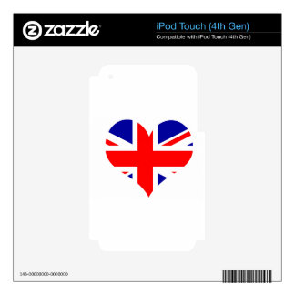 Union Jack Heart Flag iPod Touch 4G Skin