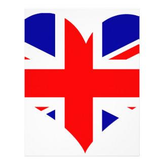 Union Jack Heart Flag Letterhead