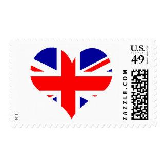 Union Jack Heart Flag Stamp